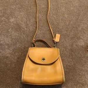Vintage Coach Regina Bag #9983 Mustard Yellow